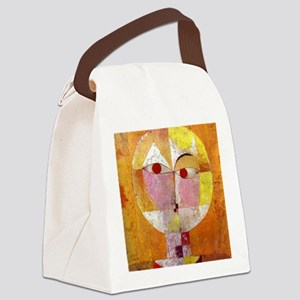 Modern Art Face with Eyes Canvas Lunch Bag