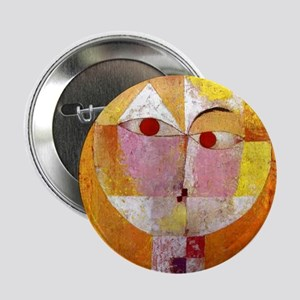"""Modern Art Face with Eyes 2.25"""" Button"""