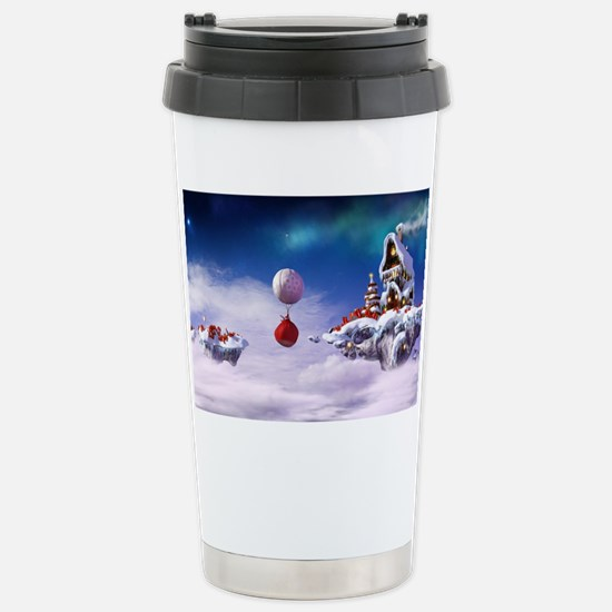 Christmas floating isla Stainless Steel Travel Mug