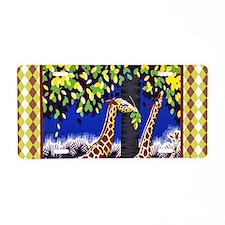 Vintage Giraffe Art Aluminum License Plate