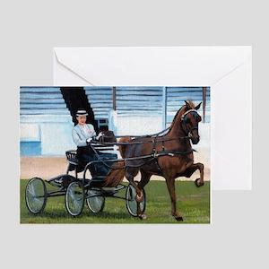Hackney Horse Portrait Greeting Cards