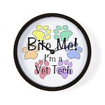Bite Me! I'm A Vet Tech - Wall Clock