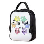 Bite Me! I'm A Vet Tech - Neoprene Lunch Bag