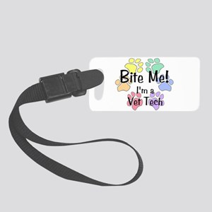 Bite Me! I'm A Vet Tech Circle Paws - Luggage Tag