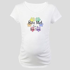 Bite Me! I'm A Vet Tech - Maternity T-Shirt