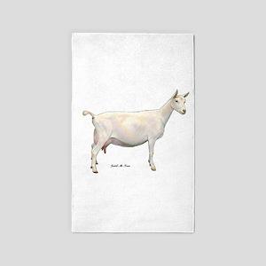 Saanen Dairy Goat 3'x5' Area Rug