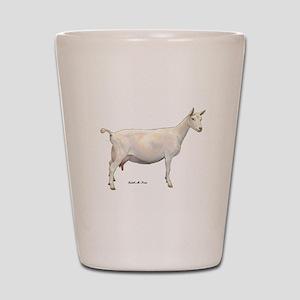 Saanen Dairy Goat Shot Glass