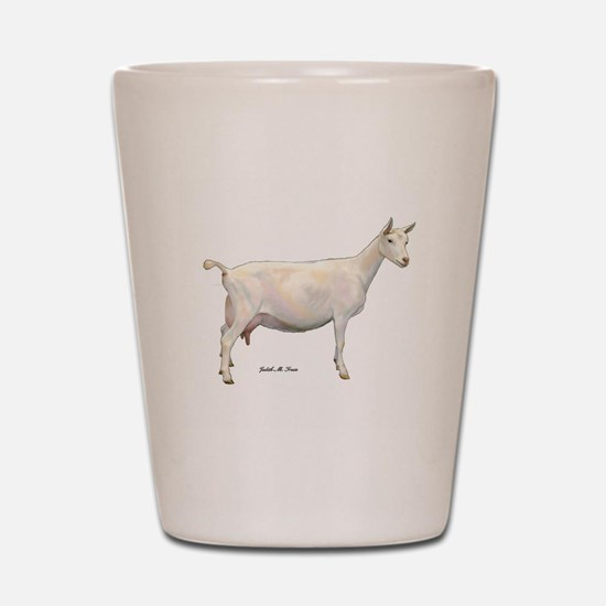 Saanen Dairy Goat Shot Glass
