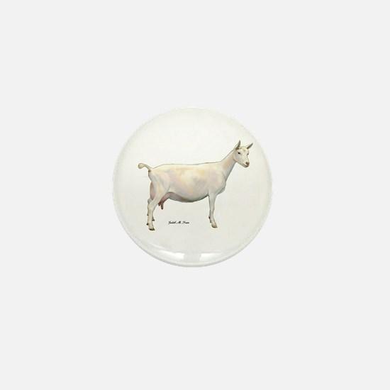 Saanen Dairy Goat Mini Button