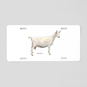 Saanen Dairy Goat Aluminum License Plate