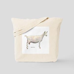 Saanen Dairy Goat Tote Bag