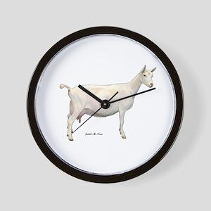 Saanen Dairy Goat Wall Clock