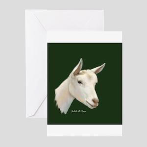 Saanen Dairy Goat Greeting Cards (Pk of 10)