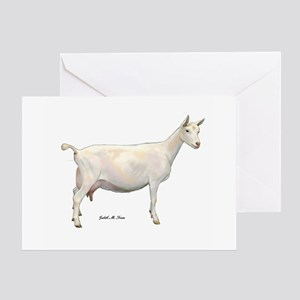 Saanen Dairy Goat Greeting Card
