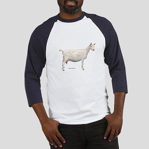 Saanen Dairy Goat Baseball Jersey