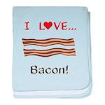 I Love Bacon baby blanket