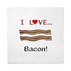 I Love Bacon Queen Duvet
