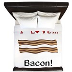 I Love Bacon King Duvet