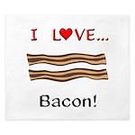 I Love Bacon King Duvet