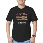 I Love Bacon Men's Fitted T-Shirt (dark)