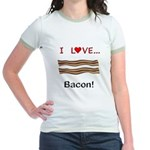 I Love Bacon Jr. Ringer T-Shirt