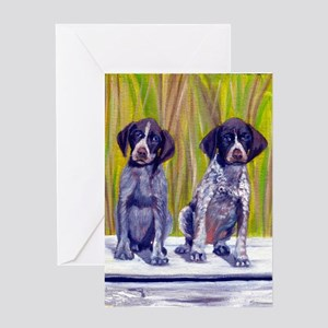 German Shorthaired Pointer Puppies Greeting Cards