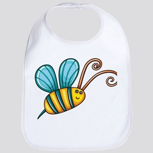 Teal Bee Bib