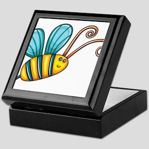 Teal Bee Keepsake Box