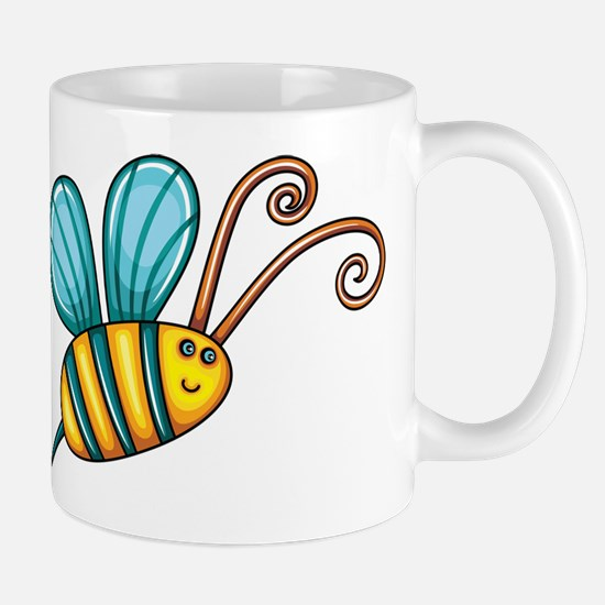 Teal Bee Mugs