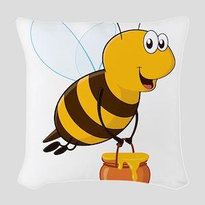 Honey Pot Bee Woven Throw Pillow