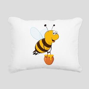 Honey Pot Bee Rectangular Canvas Pillow