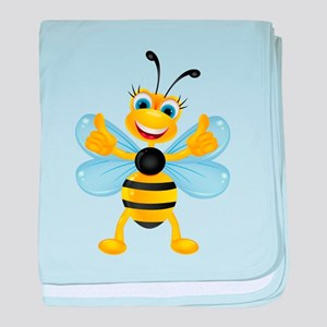 Thumbs up Bee baby blanket