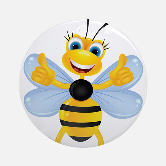 Thumbs up Bee Ornament (Round)