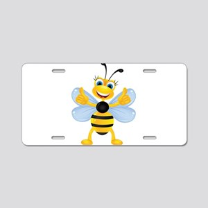 Thumbs up Bee Aluminum License Plate