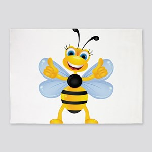 Thumbs up Bee 5'x7'Area Rug