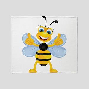 Thumbs up Bee Throw Blanket