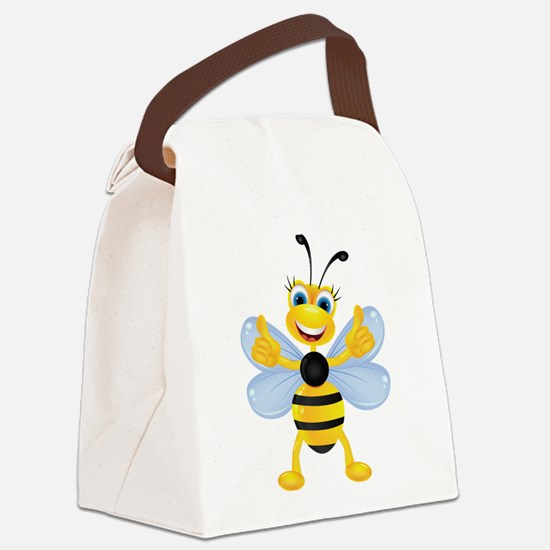 Thumbs up Bee Canvas Lunch Bag