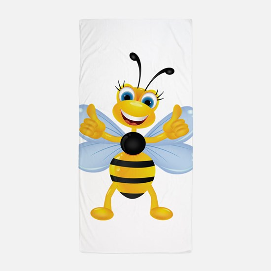 Thumbs Up Bee Beach Towel