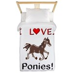 I Love Ponies Twin Duvet