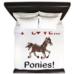 I Love Ponies King Duvet