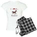 I Love Ponies Women's Light Pajamas