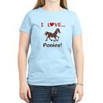 I Love Ponies Women's Light T-Shirt
