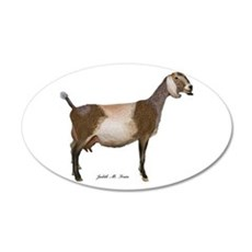 Nubian Dairy Goat Wall Decal