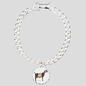 Nubian Dairy Goat Charm Bracelet, One Charm