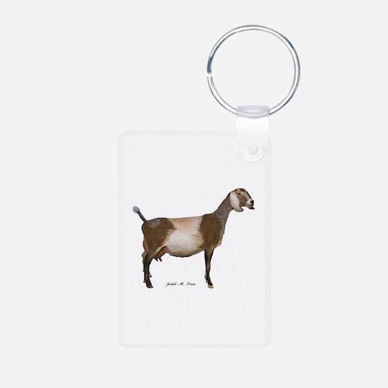 Nubian Dairy Goat Keychains