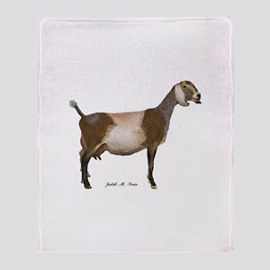 Nubian Dairy Goat Throw Blanket