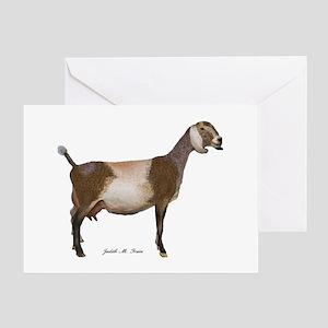 Nubian Dairy Goat Greeting Card