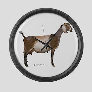 Nubian Dairy Goat Large Wall Clock