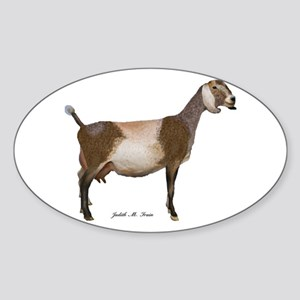 Nubian Dairy Goat Sticker (Oval)