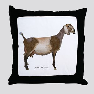 Nubian Dairy Goat Throw Pillow